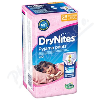 HUGGIES DryNites DryNites 3-5 Girl 10ks
