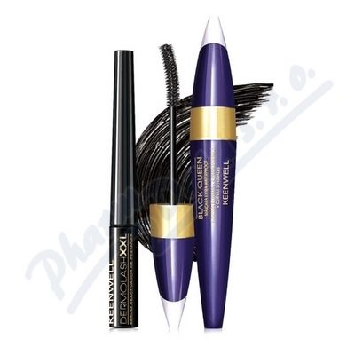 KEENWELL DUO set výž. řasy XXL+Mascara Black Queen
